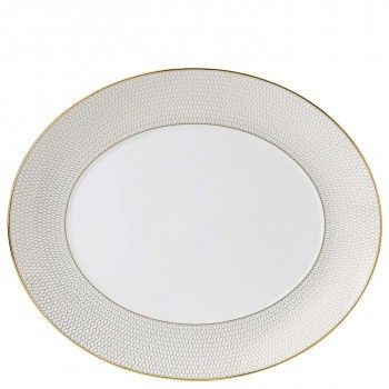 Arris Bone China Oval Serving Dish - 33cm