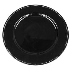BLACK BEADED Charger Plate / Underplates 33cm
