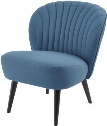Halcyon Curve Shell-Back Blue Retro Chair
