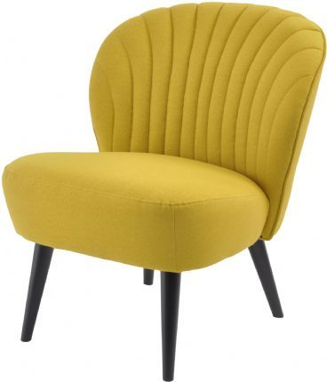 Halcyon Curve Shell-Back Mustard Yellow Retro Chair