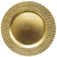 HAMMERED GOLD Charger Plate / Underplates 33cm