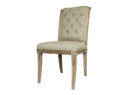 Homestead Buttoned Grey Dining Chair