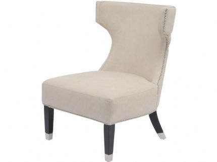 Maximus White Union Jack Back Studed Occasional Leather Chair