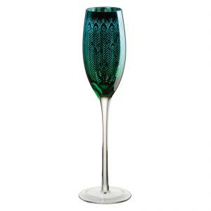Peacock Champagne Flute