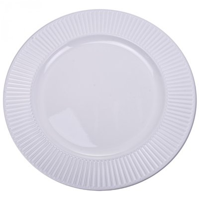 WHITE BEVELLED Charger Plate / Underplates - 33cm